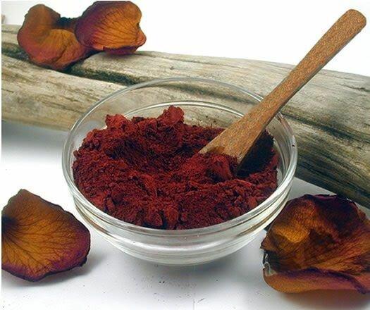 красная глина для лица