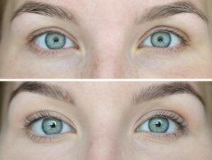 ламинирование ресниц фото до и после