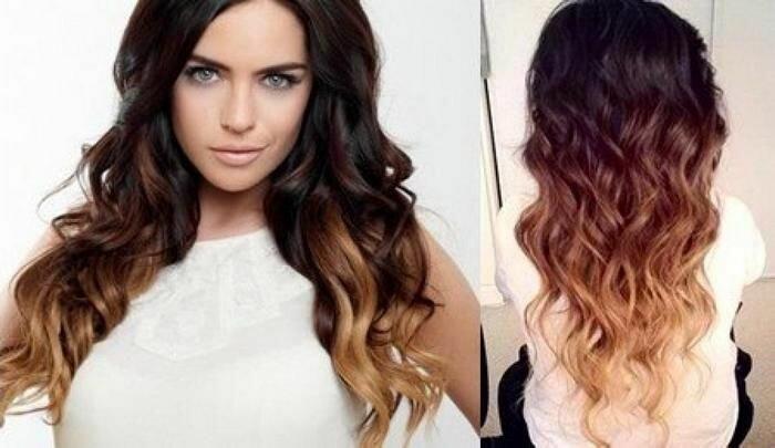 Брондирование волос темных волос фото
