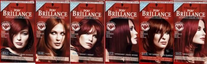 """Краска для волос """"Бриллианс"""" - особенности, палитра цветов и отзывы покупателей."""
