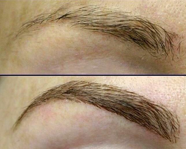 Наращивание бровей: фото и видео